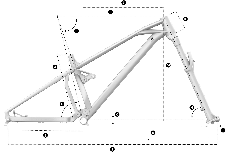 Mondraker Foxy 27.5 Alloy Geometry