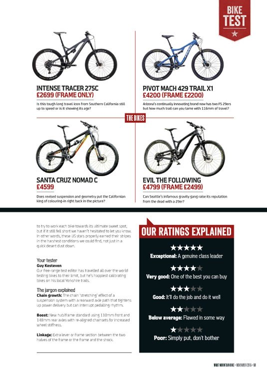 What Mountain Bike Mag Review Evil The Following