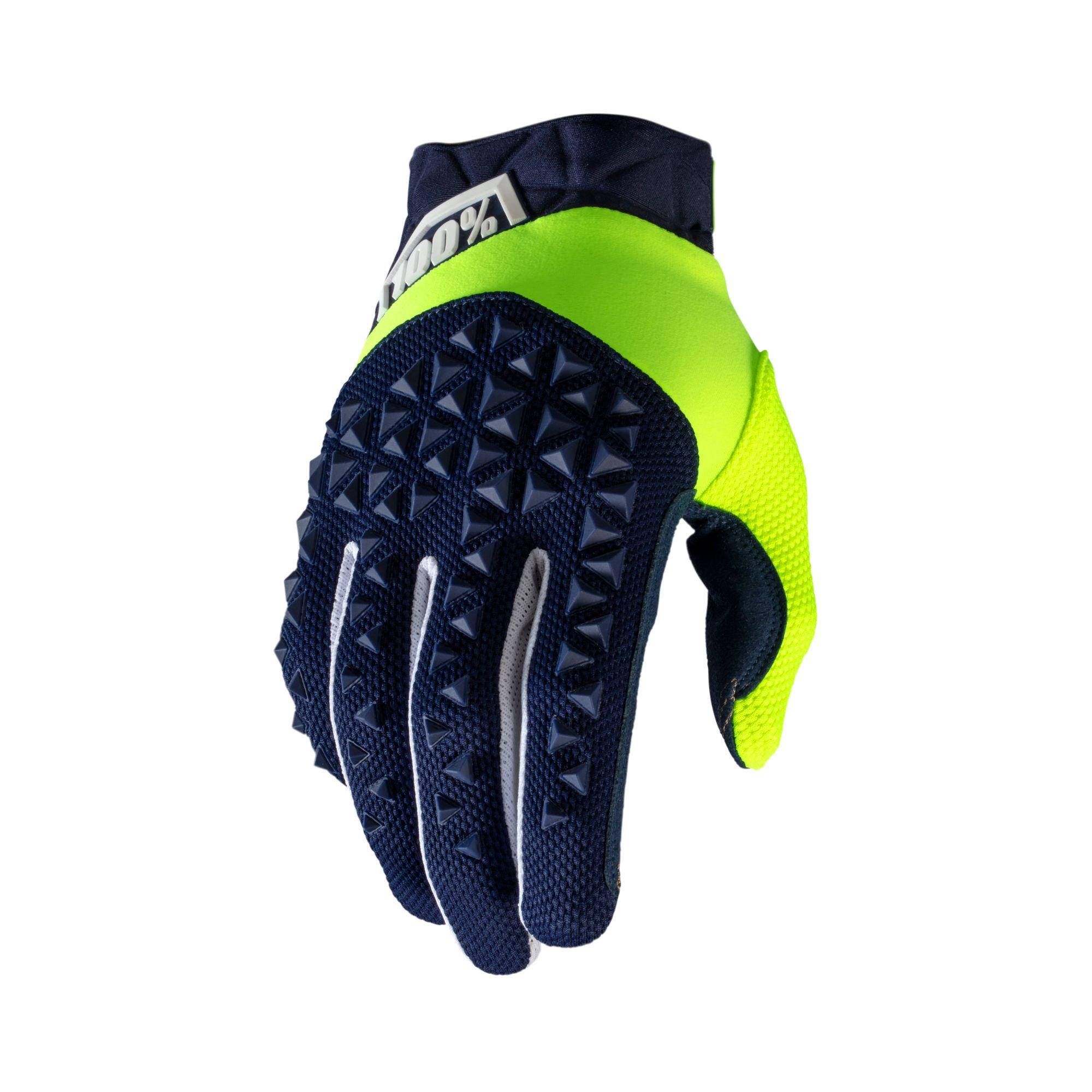 AIRMATIC Glove Navy/Fluo Yellow