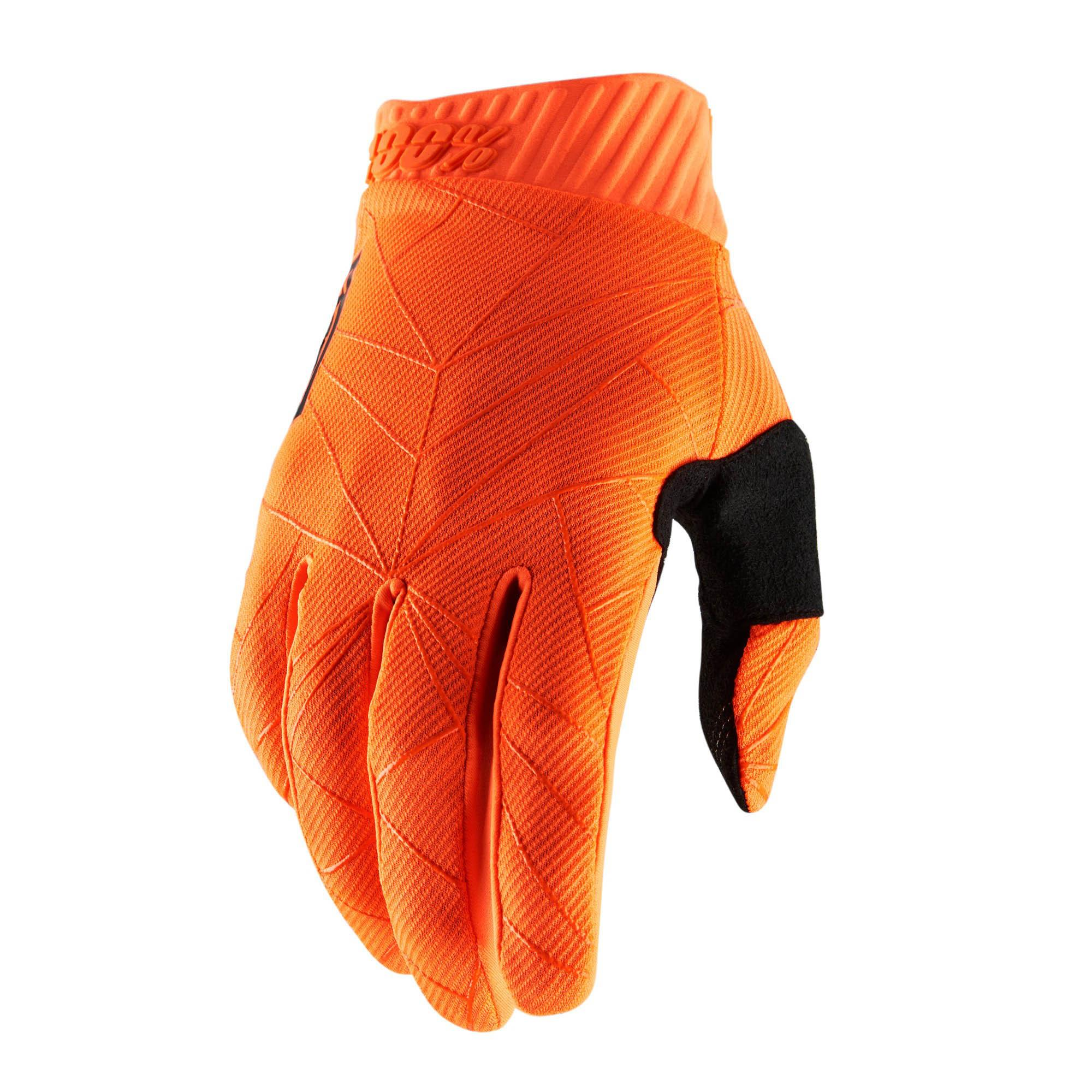 RIDEFIT 100% Glove Fluo Orange/Black