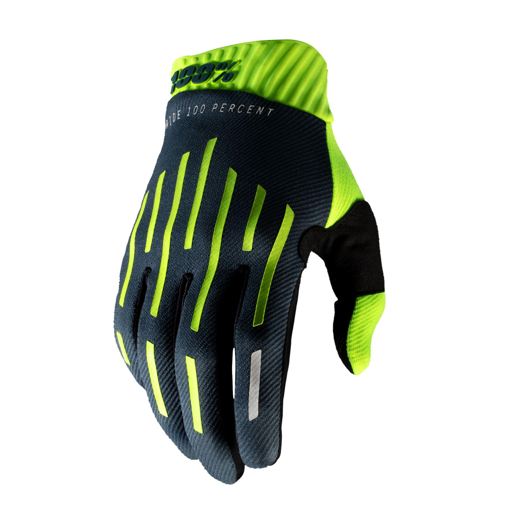 RIDEFIT Glove Fluo Yellow/Charcoal