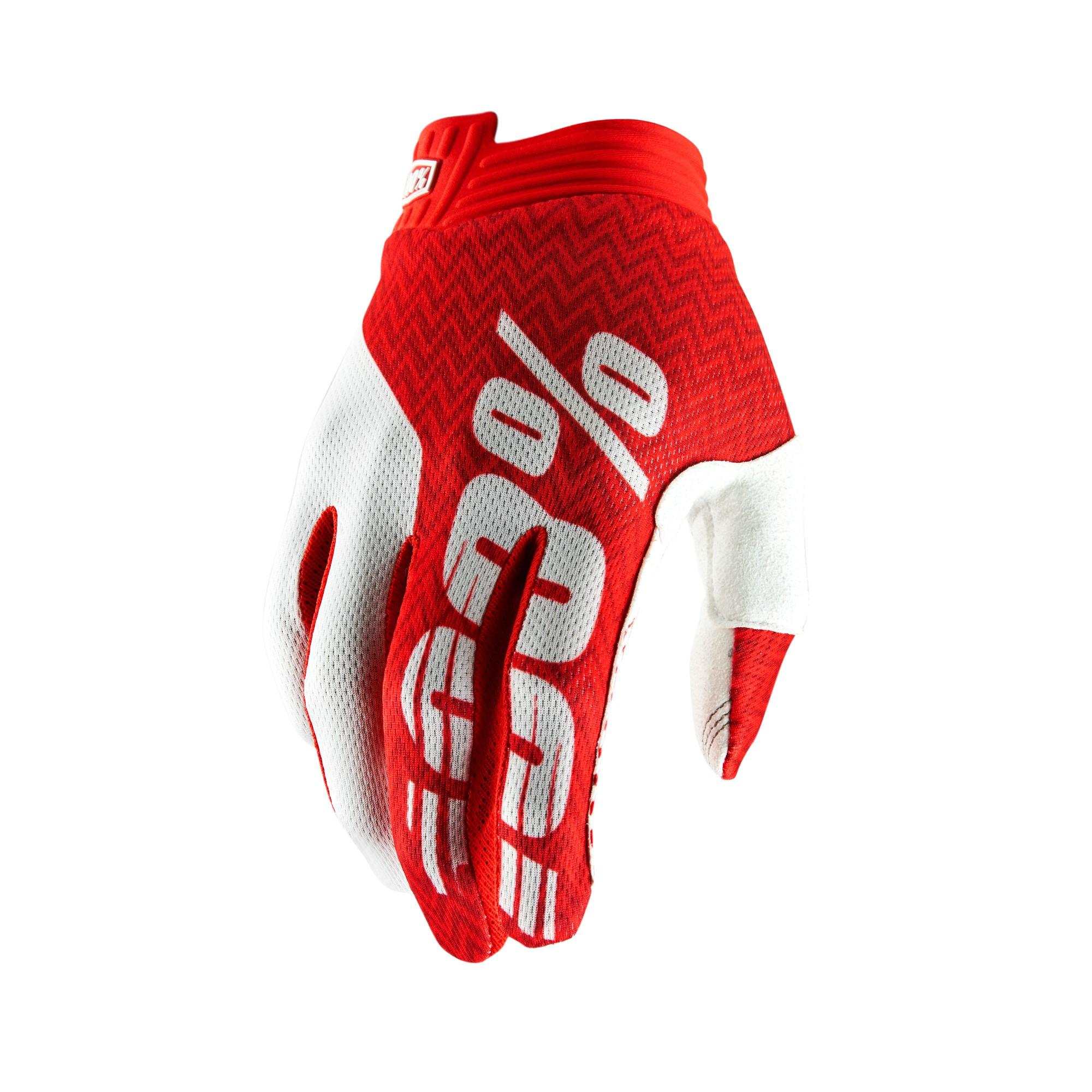 iTRACK 100% Glove Red/White