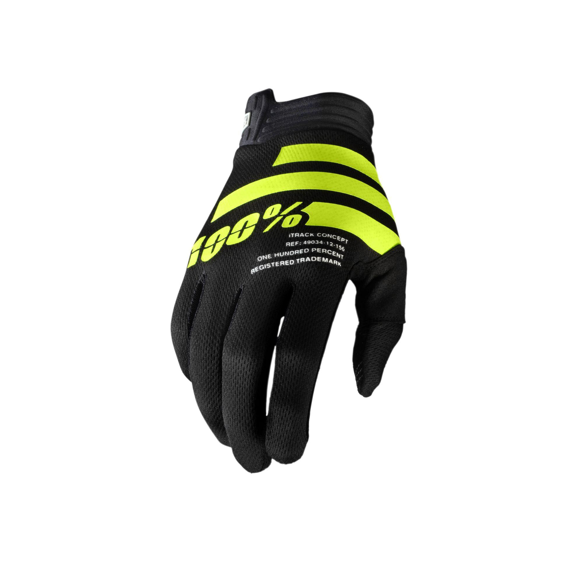 iTRACK Glove Black/Fluo Yellow