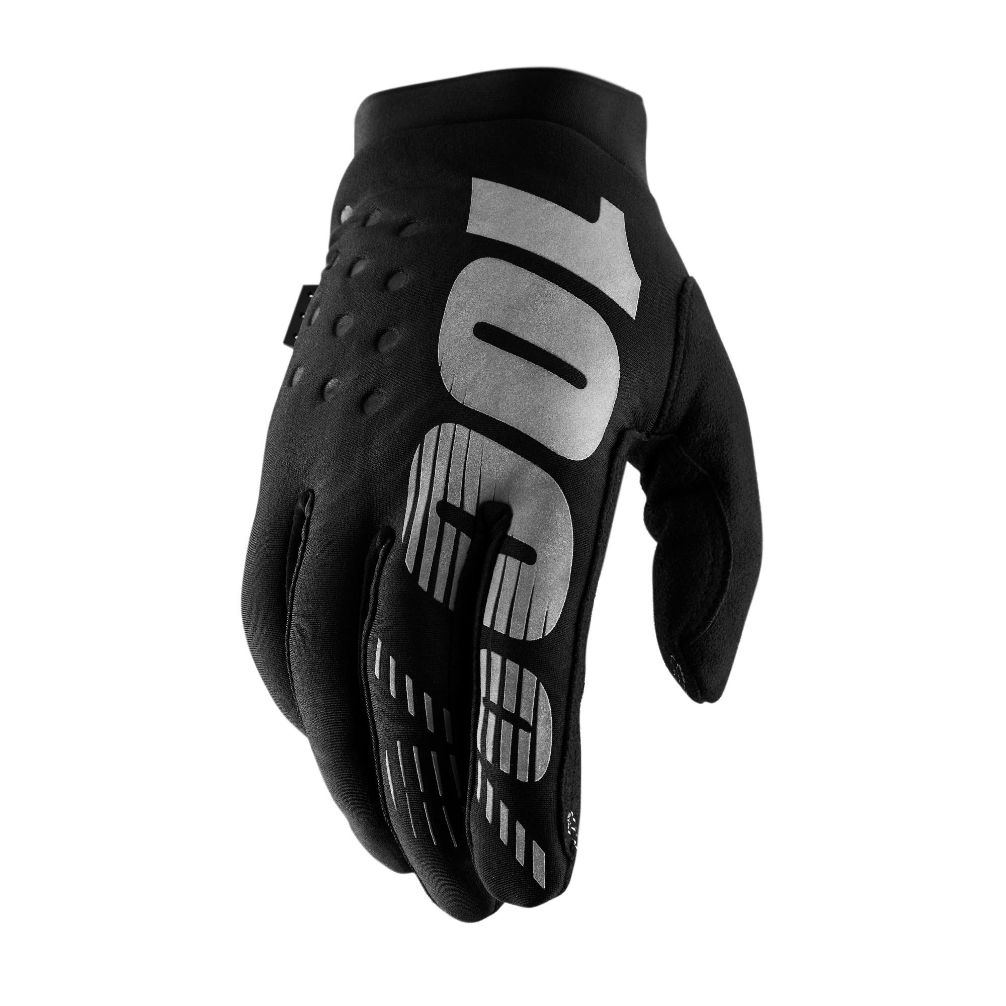 BRISKER 100% Women's Glove Black/Grey