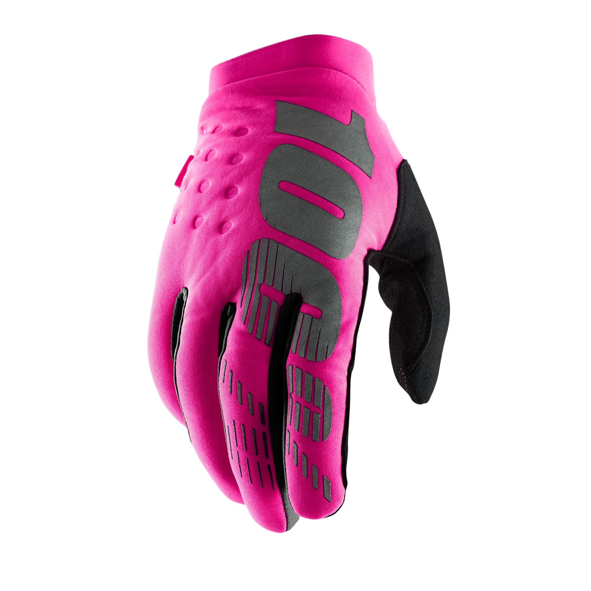 BRISKER 100% Women's Glove Neon Pink/Black