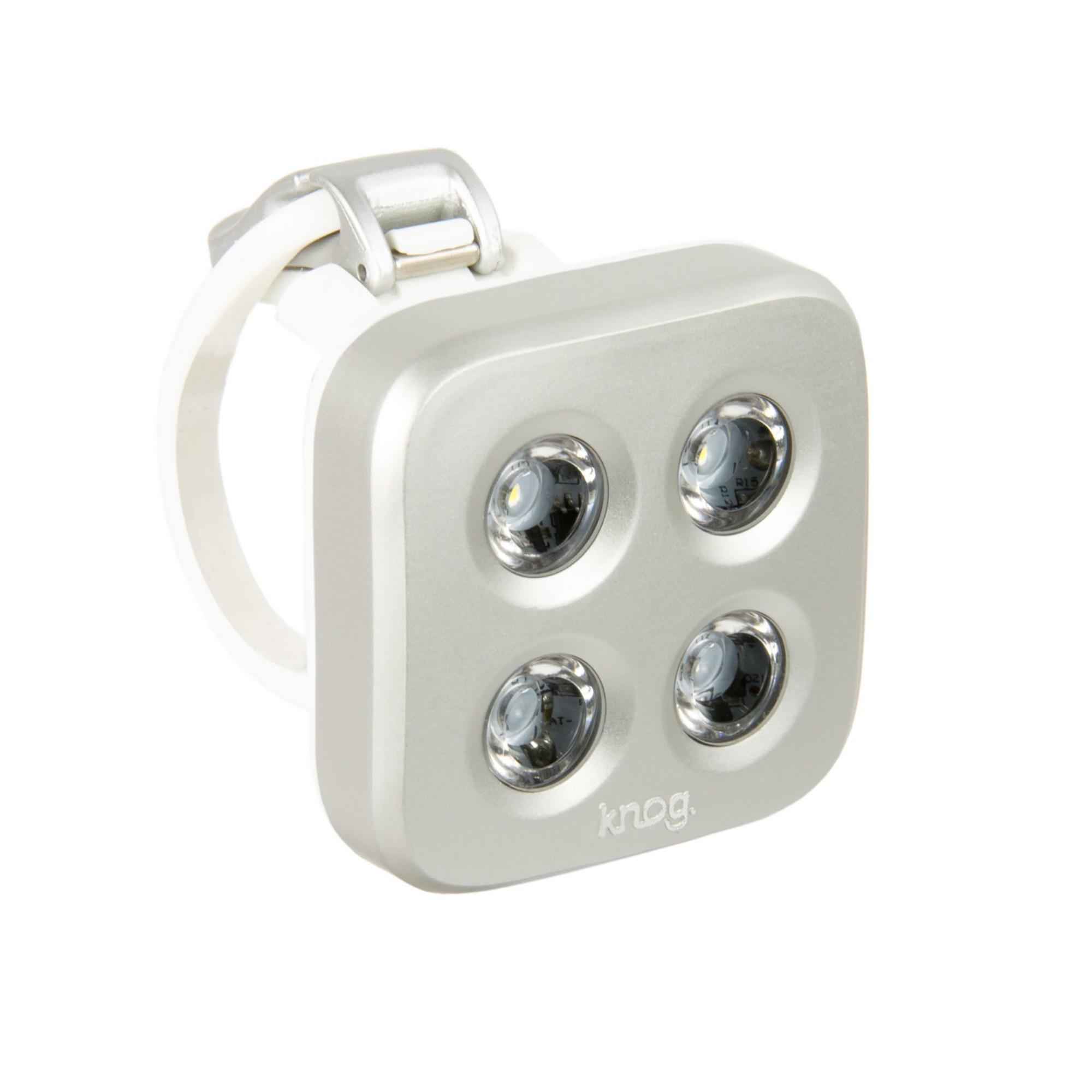 Knog Blinder MOB USB Rechargeable LED Bike Front Light Square Black The Face